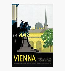 Vienna Vintage Travel Poster Restored Photographic Print