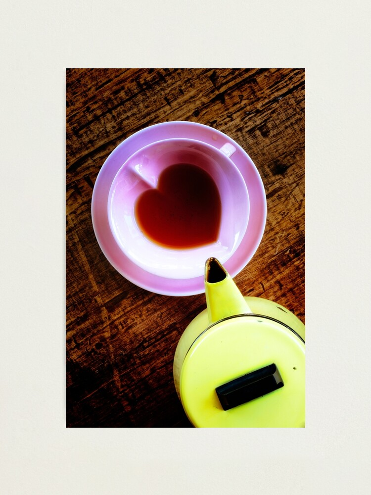 Alternate view of Yellow teapot & pink cup Photographic Print