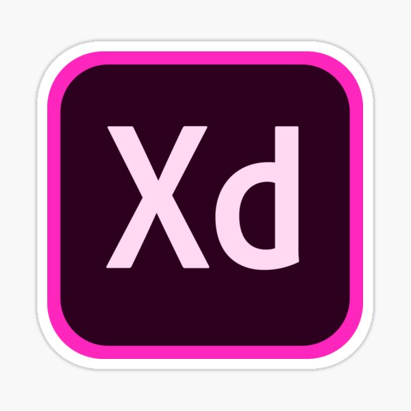 Adobe XD Logo Sticker