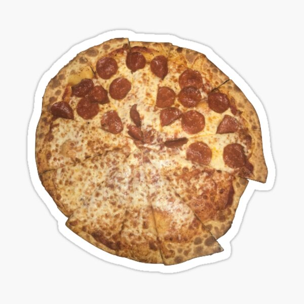 crooked pizza Sticker