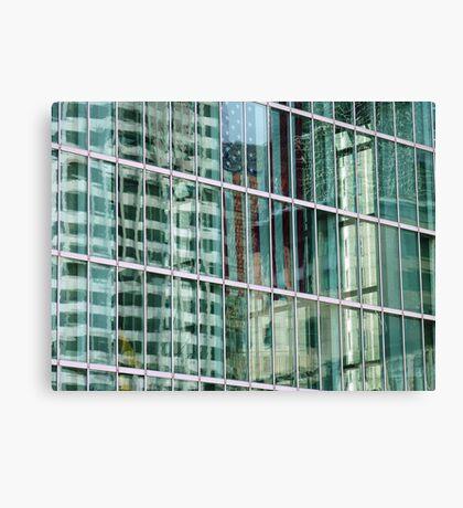 Reflections in Boston Windows  Canvas Print