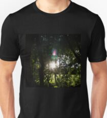 Setting Sun Through Trees Unisex T-Shirt