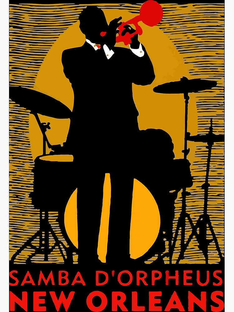 New Orleans Jazz Poster//The Big Easy//Travel Poster