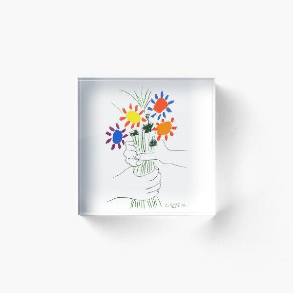 Pablo Picasso Bouquet Of Peace 1958 (Flowers Bouquet With Hands) or Le Bouquet de la Amitié (friendship) Acrylic Block