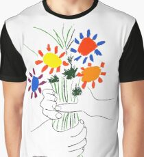 Pablo Picasso Bouquet Of Peace 1958 (Flowers Bouquet With Hands), T Shirt, Artwork Graphic T-Shirt