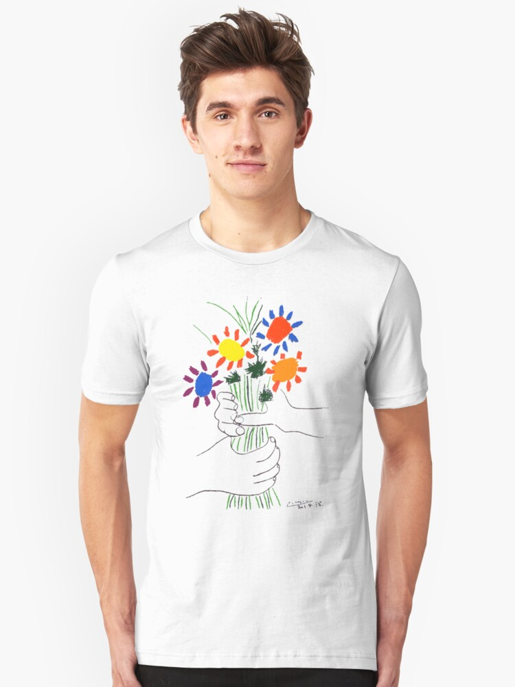 'Pablo Picasso Bouquet Of Peace 1958 (Flowers Bouquet With Hands), T Shirt,  Artwork' T-Shirt by Art-O-Rama