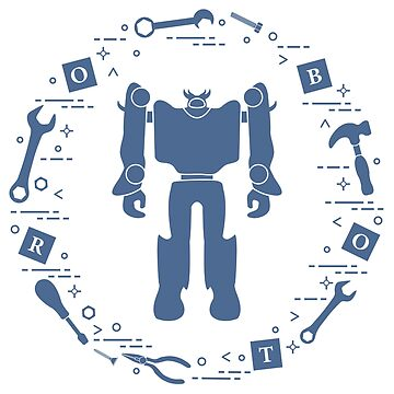 Robot, cubes, screwdriver, wrench, screw, hammer. by aquamarine-p