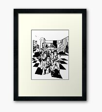 Busting Ghosts Framed Print