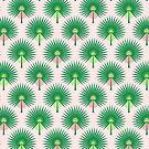 Fan Palm Leaves on Pink by Pinkdeer
