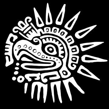 Ruler for 20 Days - White on Black - Hueitetollin, Veracruz  by TheWhiteBear