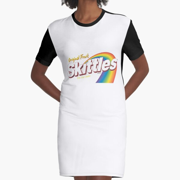 skittles Graphic T-Shirt Dress
