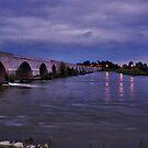 Loire-Bridge after sunset by Adri  Padmos