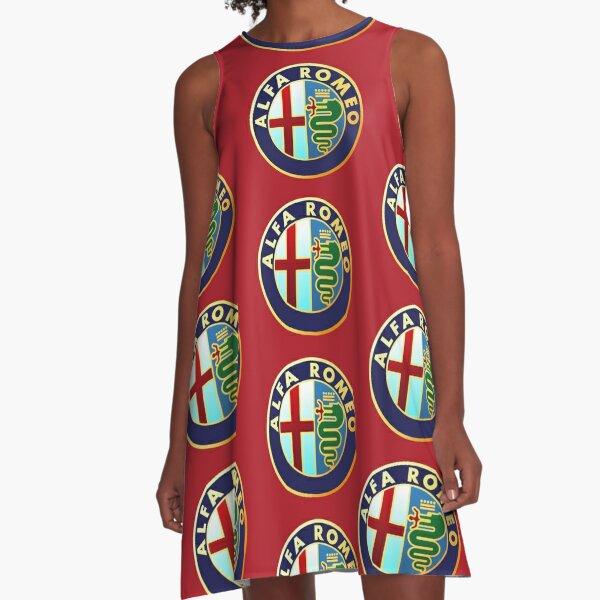 Alfa Romeo - Classic Car Logos A-Line Dress