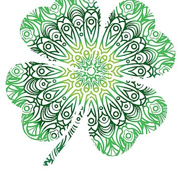 Celtic styled Shamrock  by CasualMood