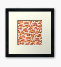 Pizza-Muster Gerahmtes Wandbild