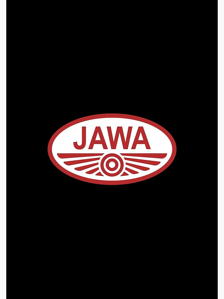 Classic Motorcycle Logos Jawa Spiral Notebook By Brookestead