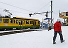 Cable train to Wengen and Lauterbrunnen by David Carton