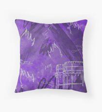 Valencia en fallas - Purple Throw Pillow
