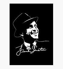 Frank Sinatra - Portrait and signature Photographic Print