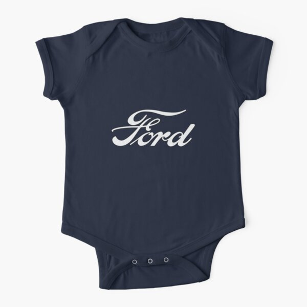 Classic Car Logos: Ford Short Sleeve Baby One-Piece