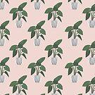Tropische Pflanzen nahtlose Muster von owliedesign