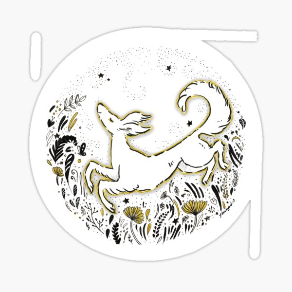 Joy - Cute and Whimsical Saluki Art Sticker