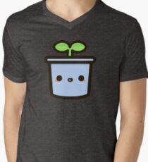 Cute sprout in pot Men's V-Neck T-Shirt