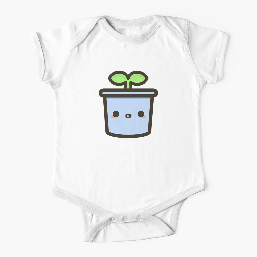 Cute sprout in pot Baby One-Piece