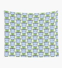 Cute sprout in pot Wall Tapestry
