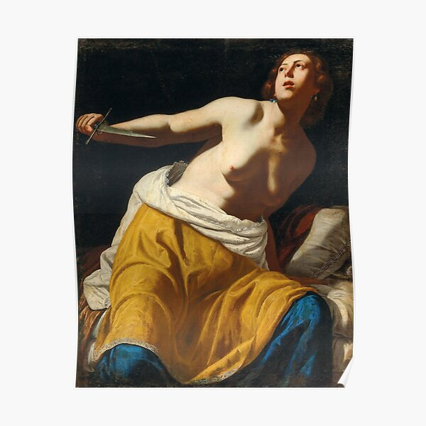 Lucretia by Artemisia Gentileschi, 1650 Poster