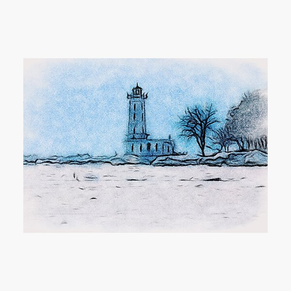 Winter At Point Abino Photographic Print