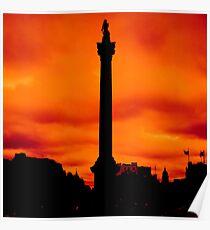 Nelson - Trafalgar Square, London Poster