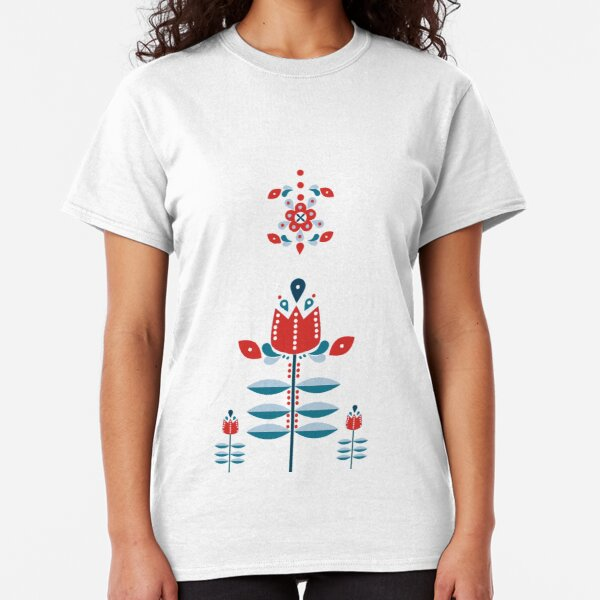 Retro Nordic Folk Art Classic T-Shirt