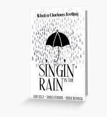 Singin 'im Regenfilm Poster Grußkarte