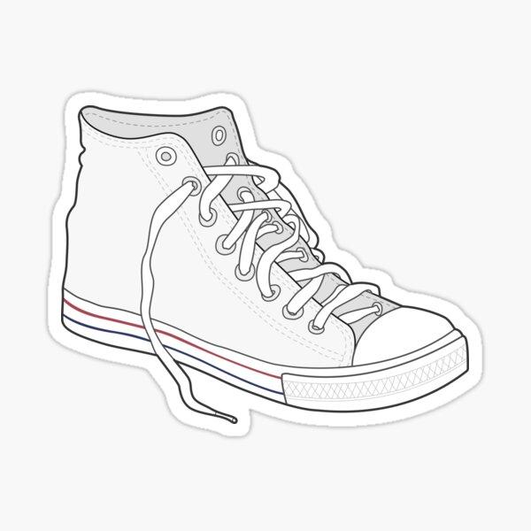 Retro Vintage Popular White Shoe Sticker