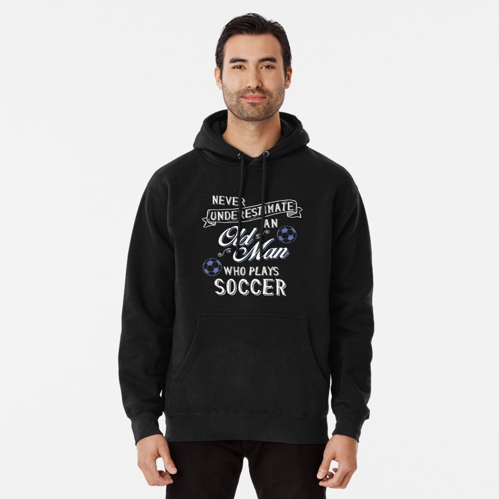 Funny Meme Never Underestimate Old Man Who Plays Soccer T Shirt