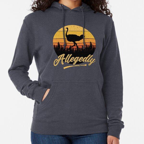 Letterkenny Allegedly Ostrich Flightless Bird Vintage Retro Sunset Distressed Lightweight Hoodie