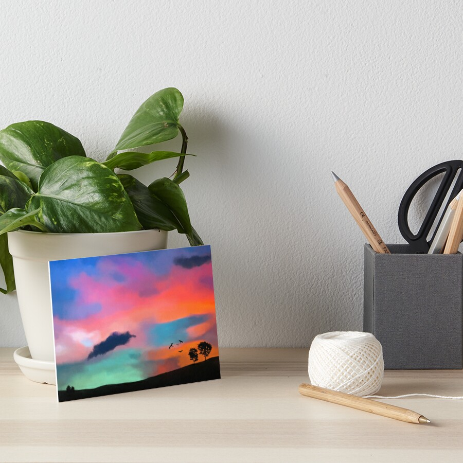 Colorful Sky Art Board Print