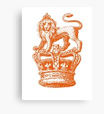 Lion & Crown Heraldry Blazon Canvas Print