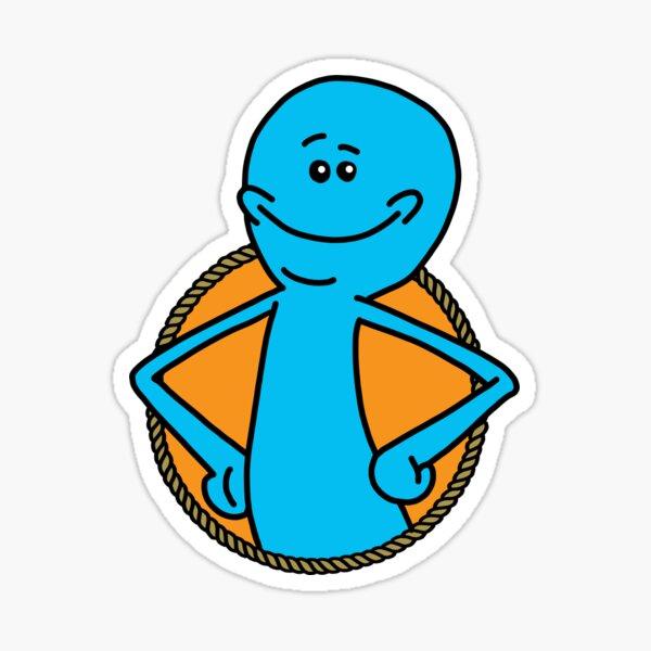 Mr. Meeseeks Badge Sticker