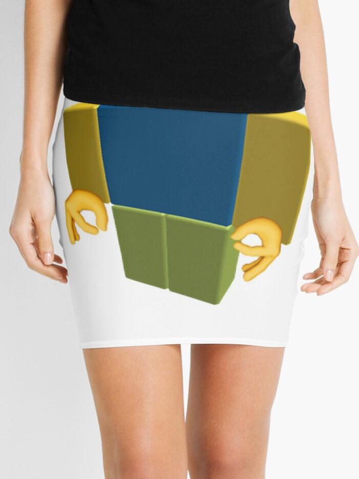 Noob Roblox Funny Cringe Got Em Emoji Mini Skirt By Franciscoie