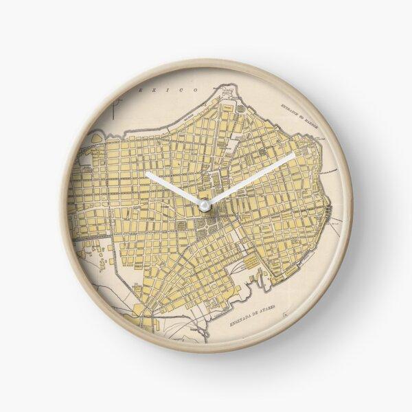 Vintage Map of Havana Cuba (1905) Clock