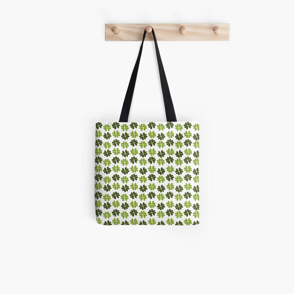 Shamrock Forest Pattern Tote Bag