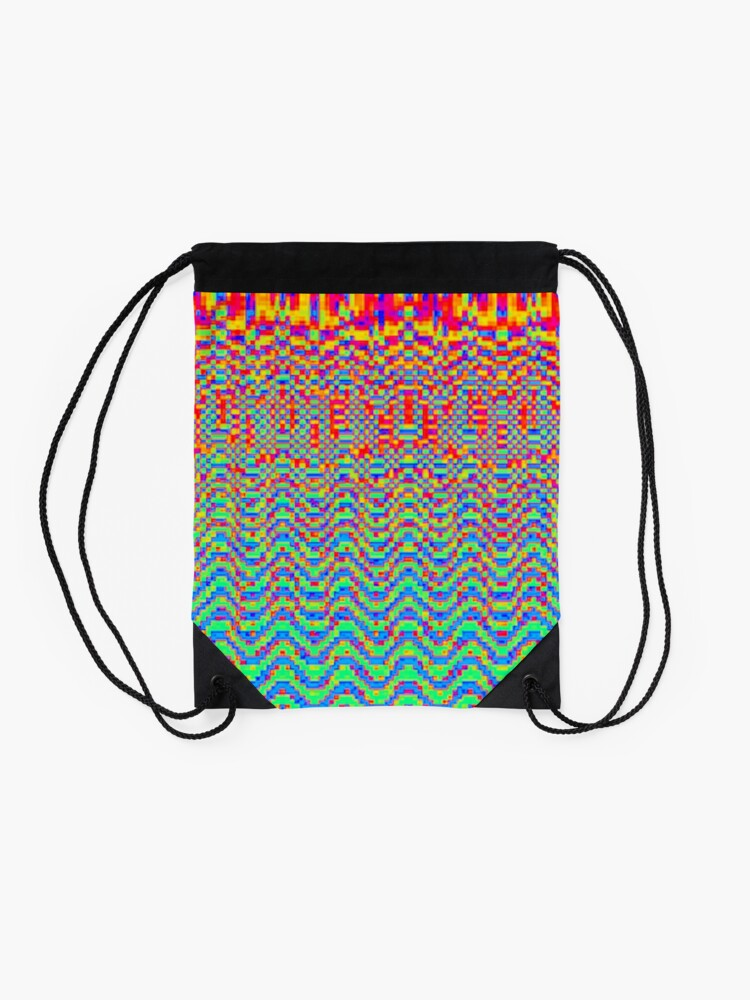 Alternate view of Optical ⑤ by RootCat Drawstring Bag