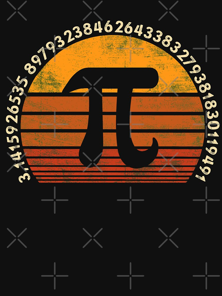 Pi Day - 3.14 Symbol Retro Math Teacher Nerd Love Gift by EcoKeeps