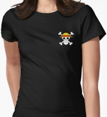 One Piece Pirate Flag  Women's Fitted T-Shirt