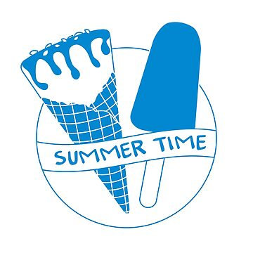 Vector illustration with ice cream cone, ice lolly by aquamarine-p