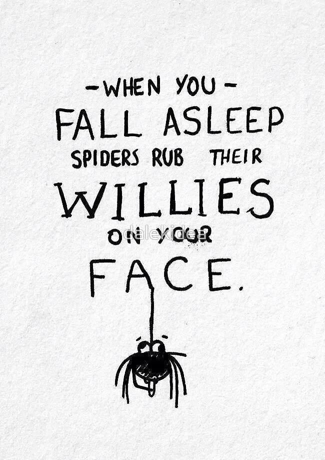Spider willies by dalekidea