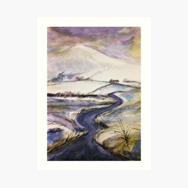 Purple snow Art Print