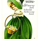 St. Patrick's Day Greeting, Vintage by virginia50